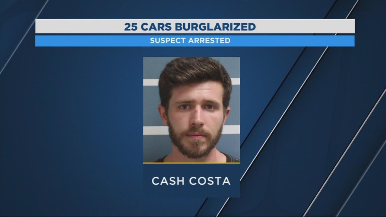 Arrest in Visalia car burglaries, storage unit burglary