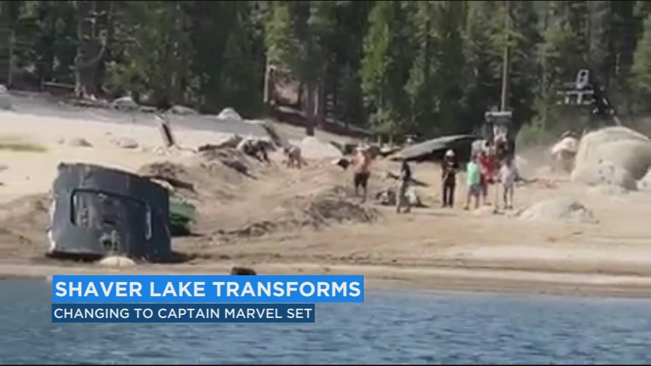 Scenes come to life ahead of Captain Marvel movie shooting at Shaver Lake