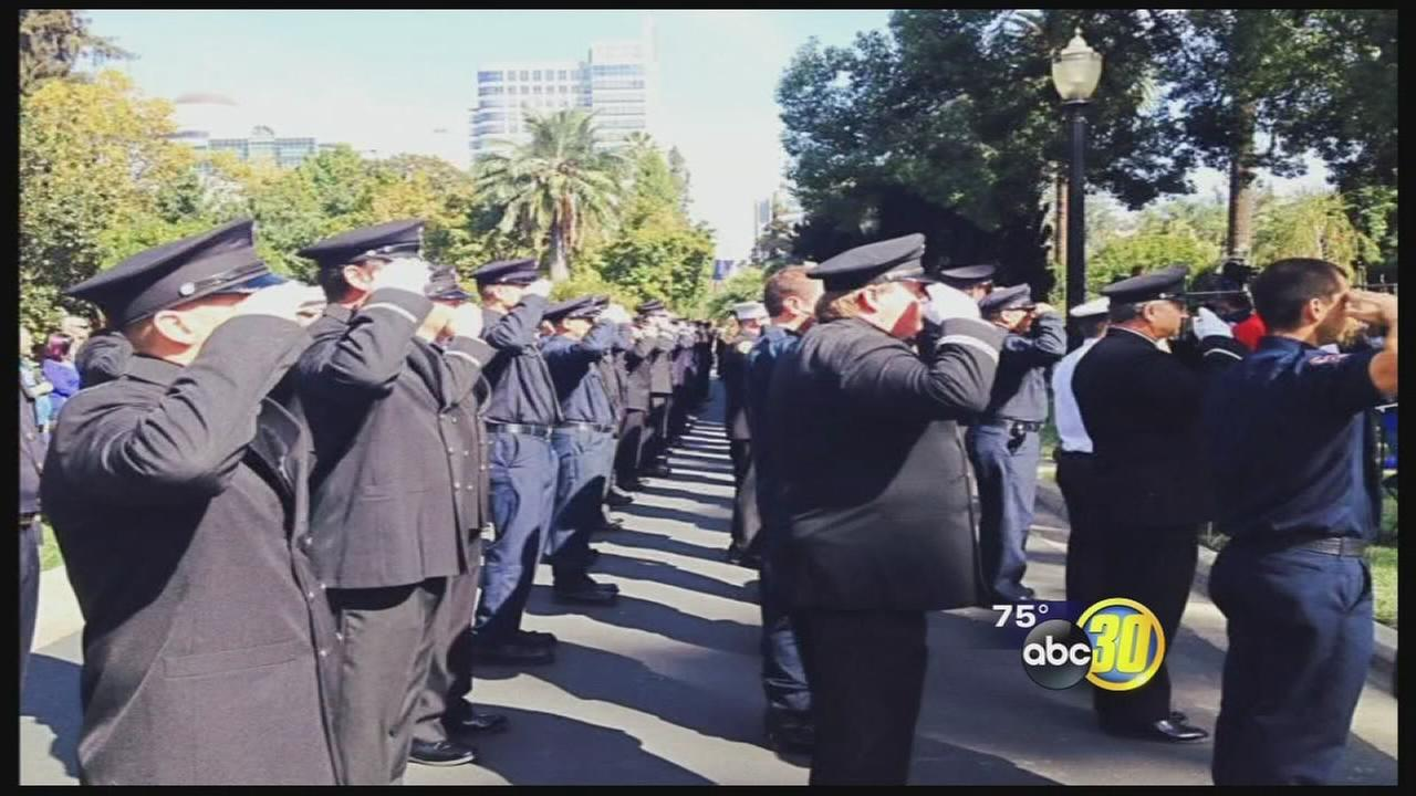 Former Fresno firefighters name added to memorial