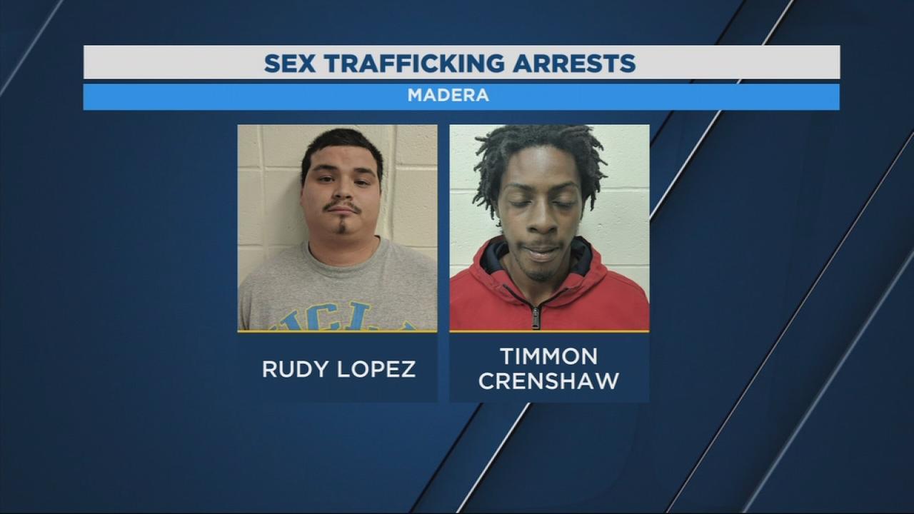 Madera Police arrest 2 men for sex trafficking