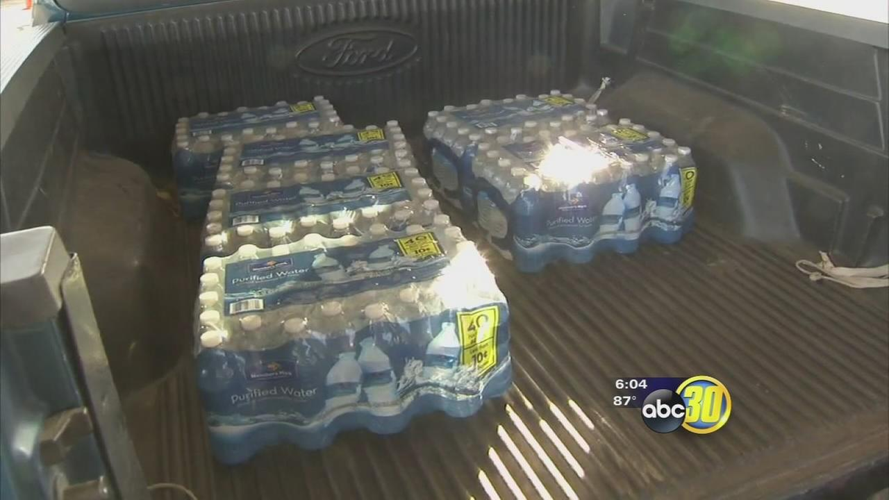 Porterville-area families affected by drought receive water donations