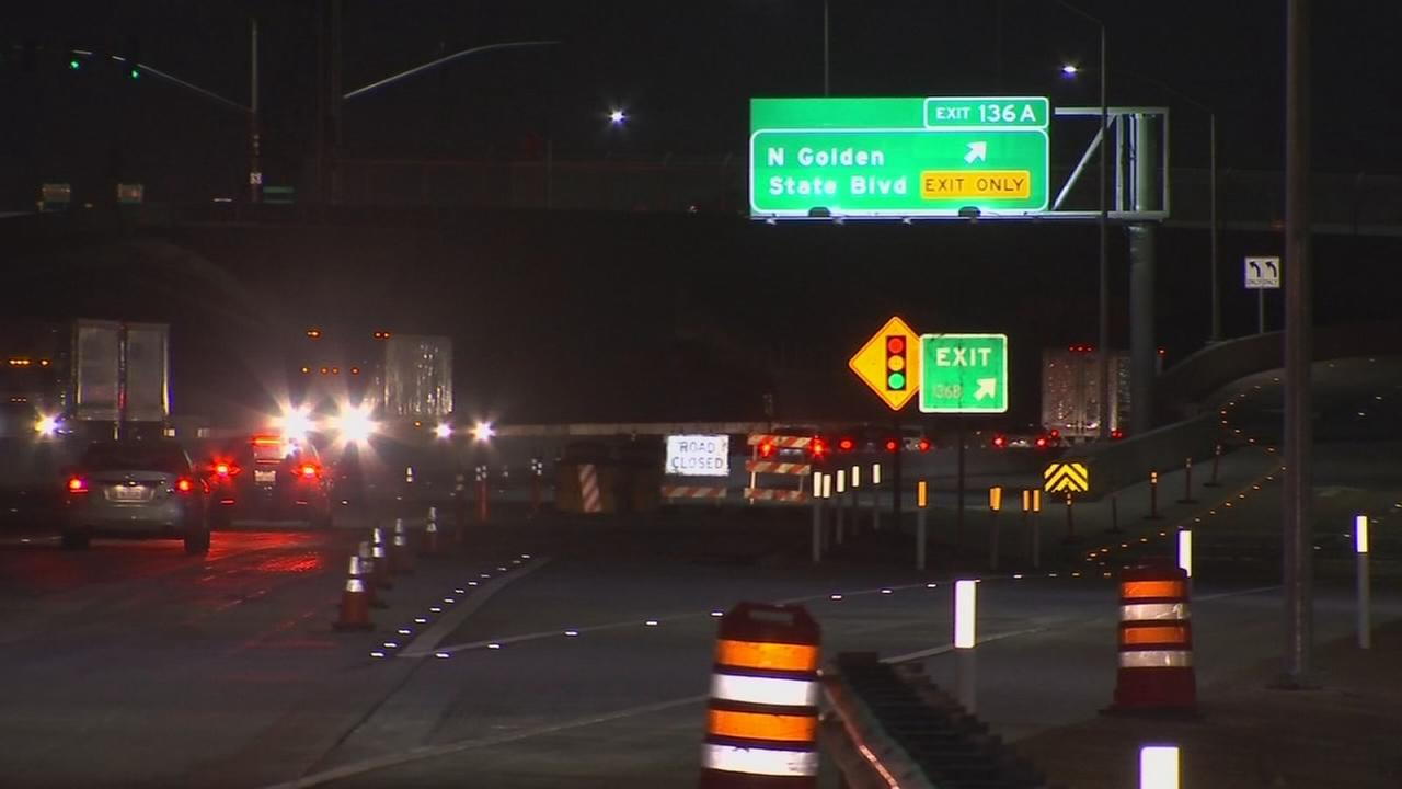 SB Golden State off-ramp on HWY 99 in West Central Fresno to re-open