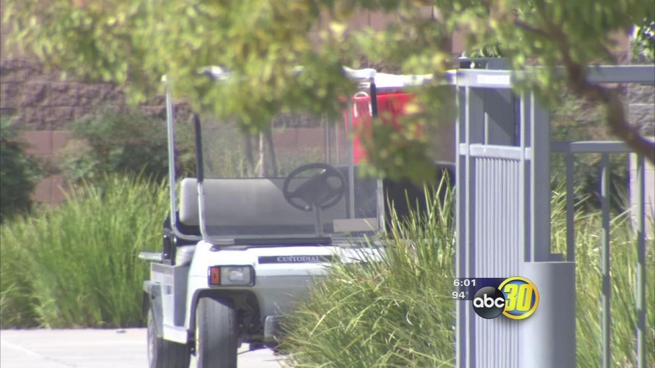 Special-needs student hits 9 students with golf cart