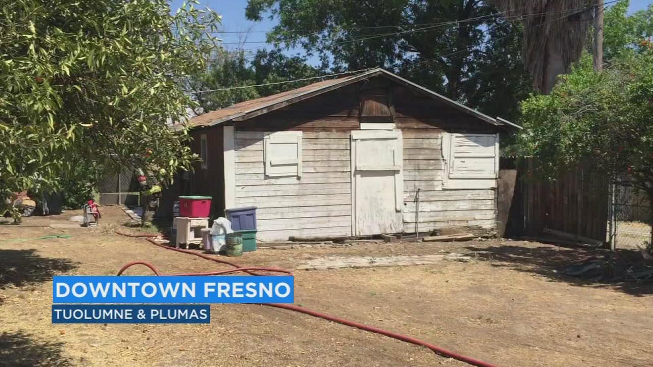 Fresno Fire investigating garage fire in downtown Fresno