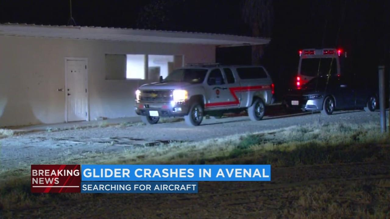 Kings County authorities searching for missing glider near Avenal