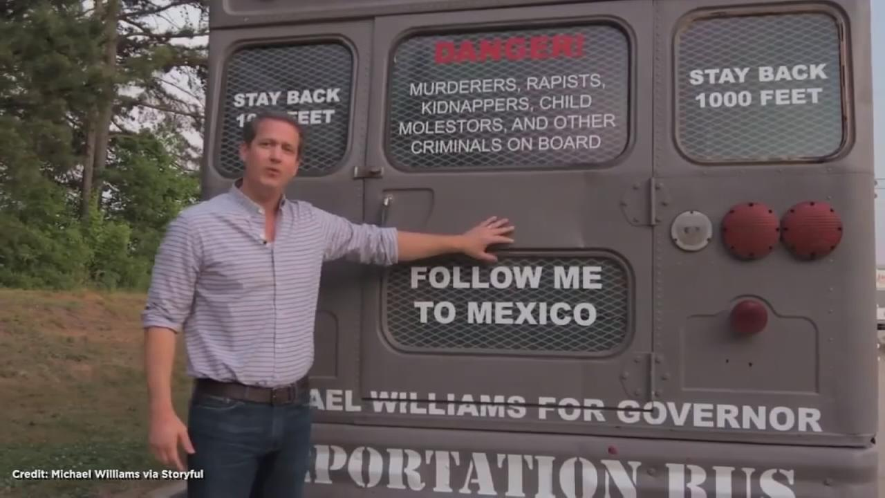 Republican Candidate for Georgia Governor Unveils Deportation Bus