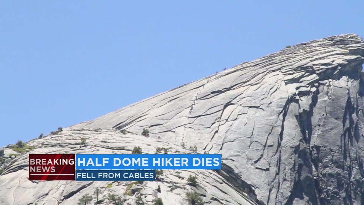 Hiker dies after falling off Half Dome cables in Yosemite