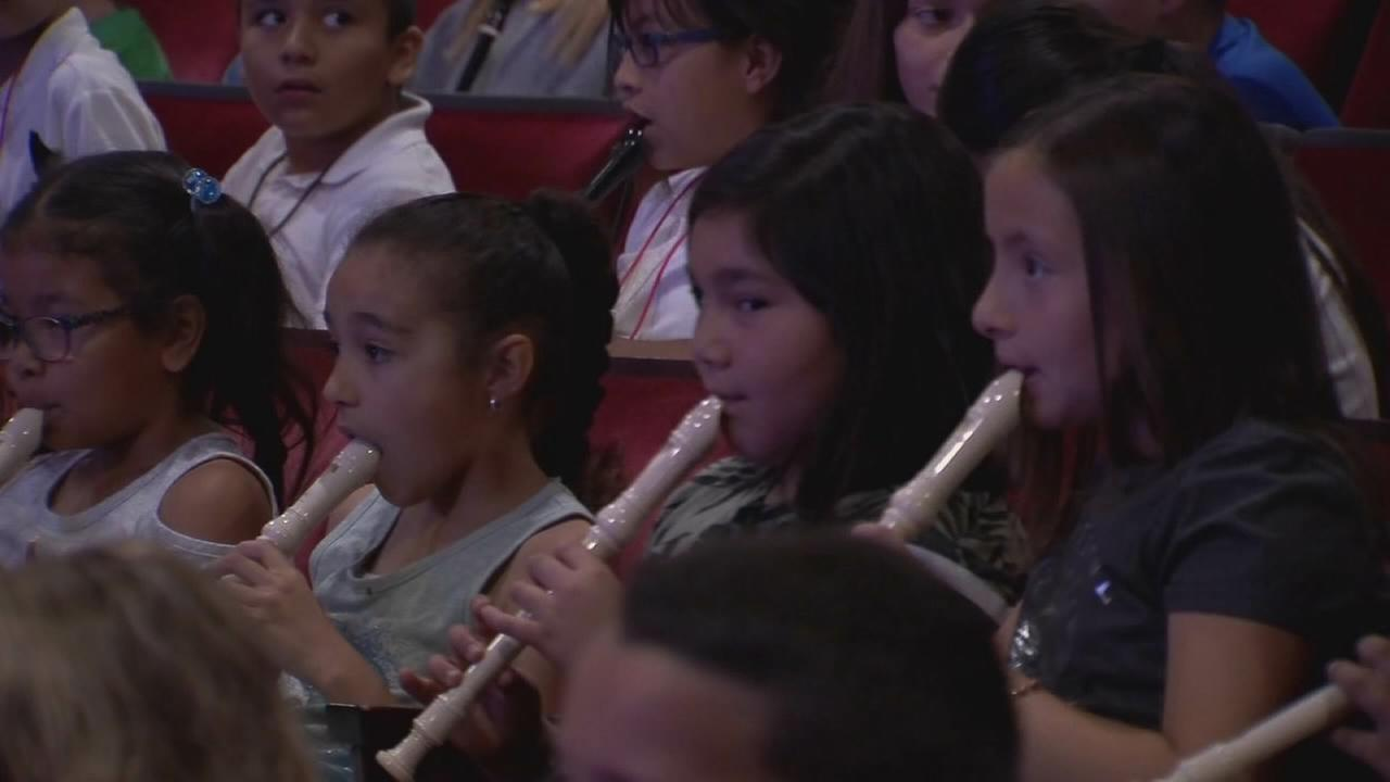 Fresno Co. students performing with Fresno Philharmonic