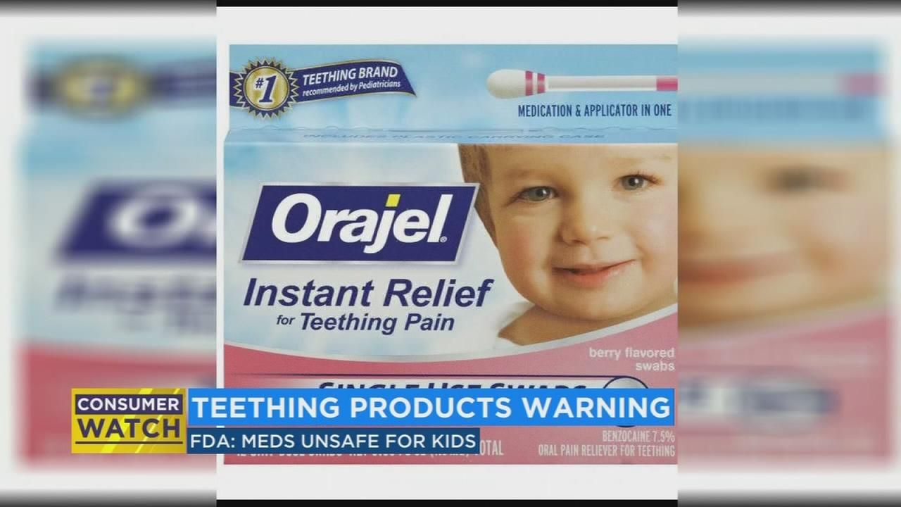 FDA asks teething medicine manufacturers to stop selling product do to potentially deadly side effects