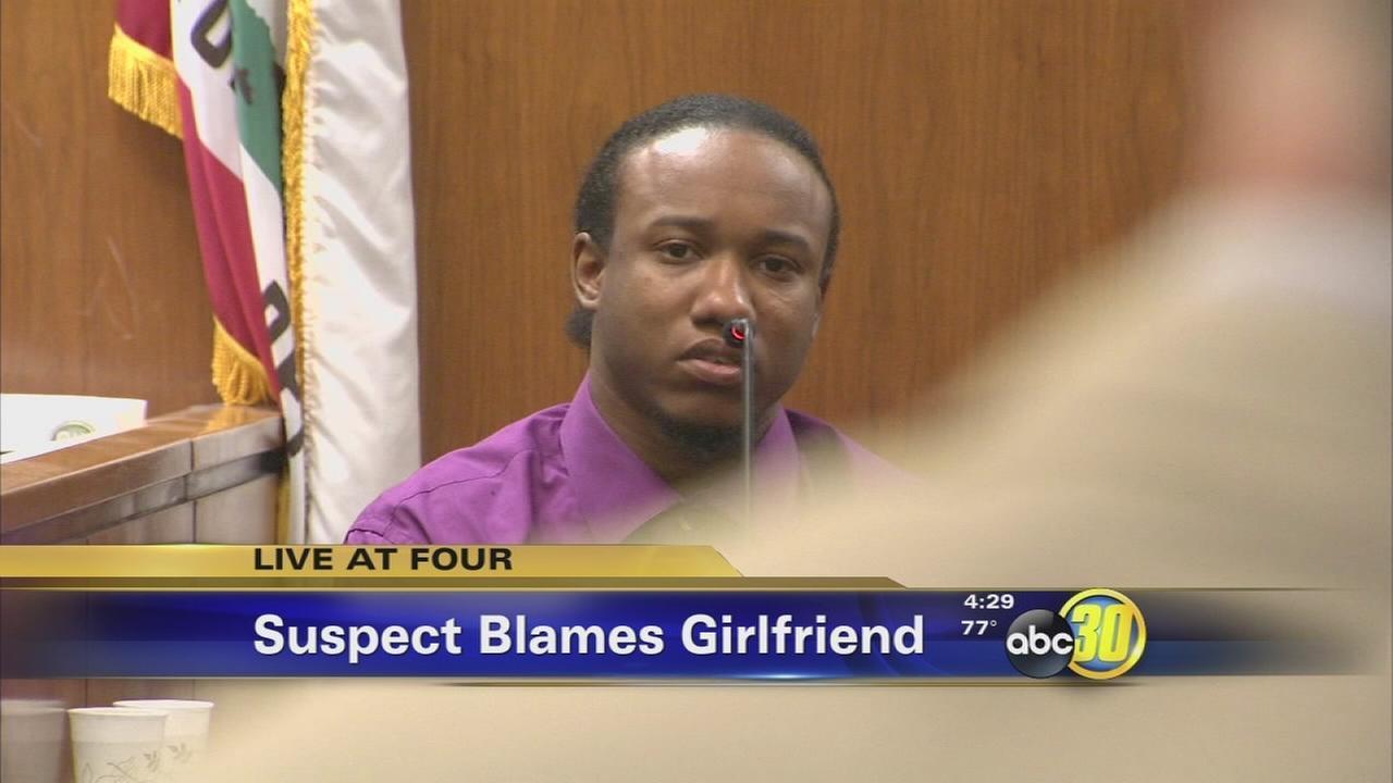 Accused Fresno toddler killer points blame