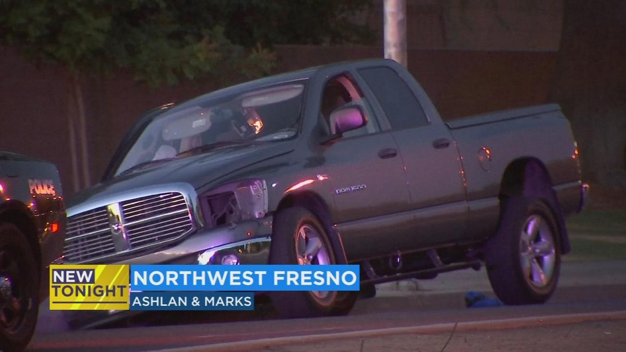 Both sides of Ashlan back open in NW Fresno after car crashes into power pole