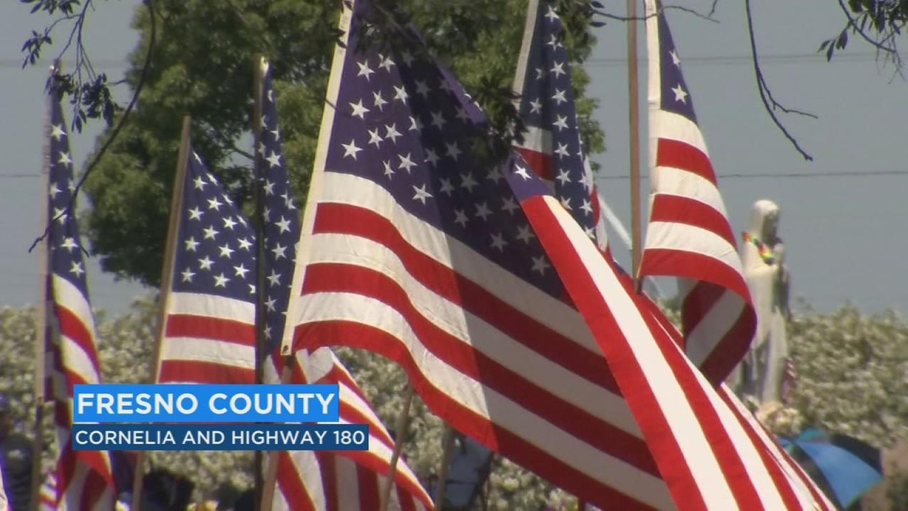 55TH annual Memorial Day services drew a big crowd at Fresno Memorial Gardens