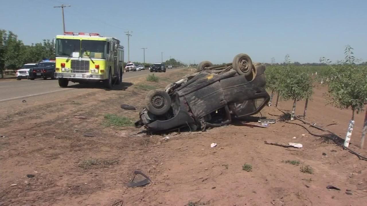 Three dead, one injured in head-on crash near Merced