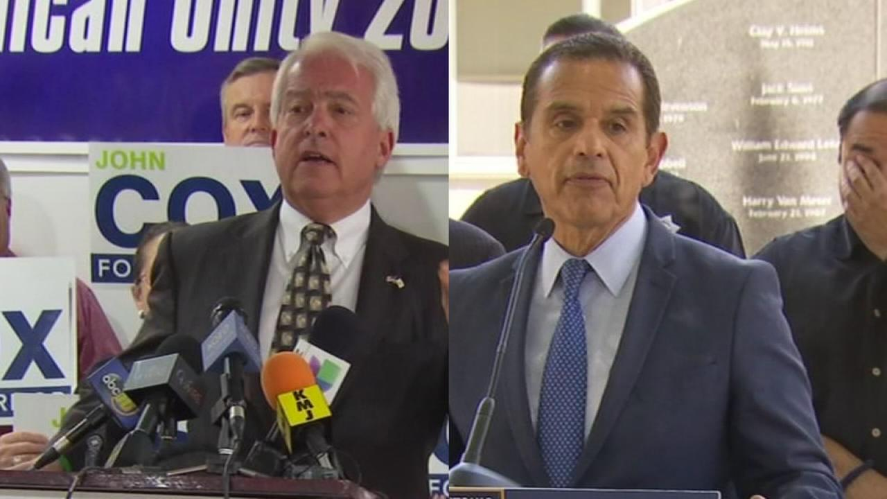 Villaraigosa and Cox bring campaigns for governor to Fresno
