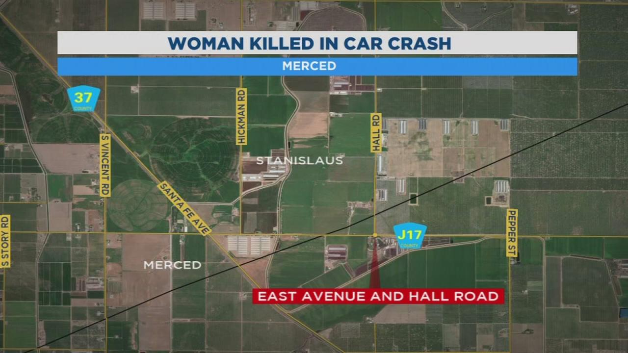 Turlock woman dead after car overturns into field