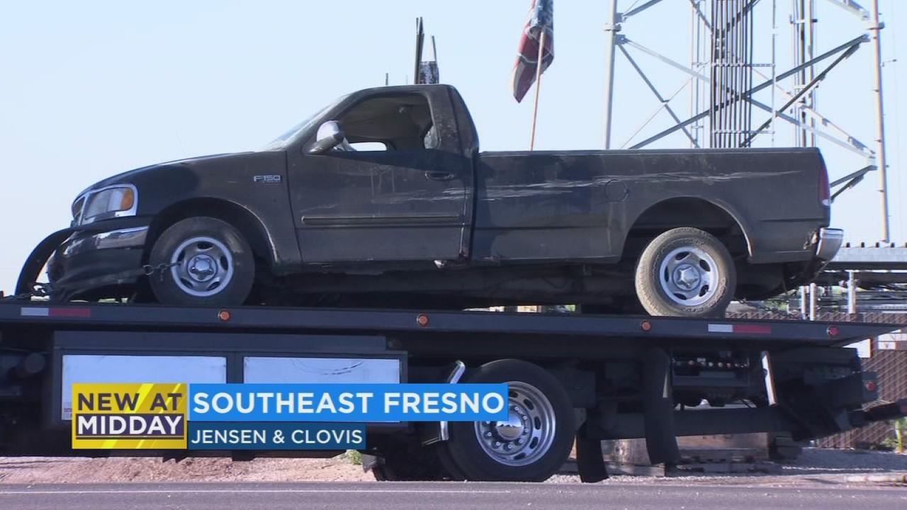 Truck crashed through fence of Simonian Farms in Southeast Fresno