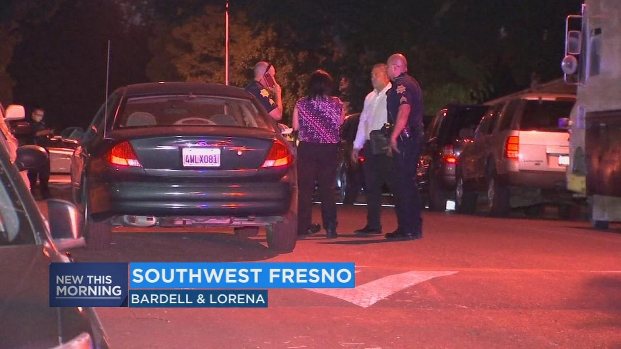 Man found lying in the street, shot several times in Southwest Fresno