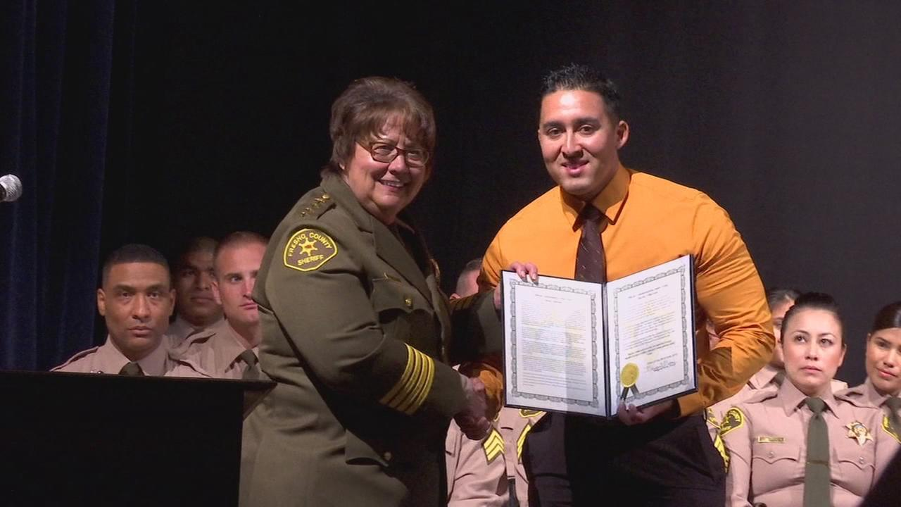 Man honored for helping arrest person responsible for shootings