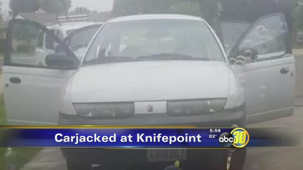 Suspect sought after teen carjacked at knifepoint in Fresno