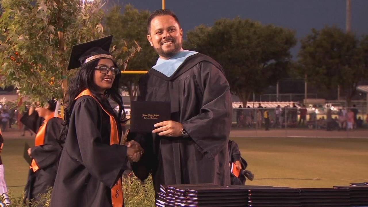 Selma High senior graduates after second bout with leukemia