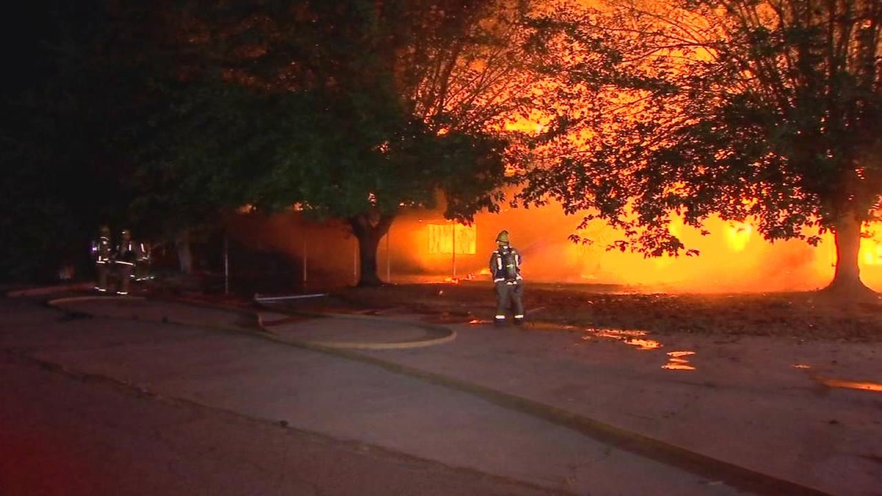 Fire rips through two-story home in Fresno County