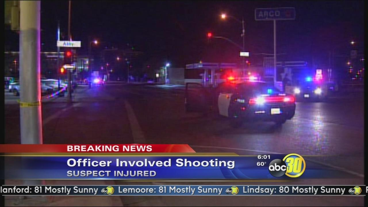 Suspect shot by police in Central Fresno