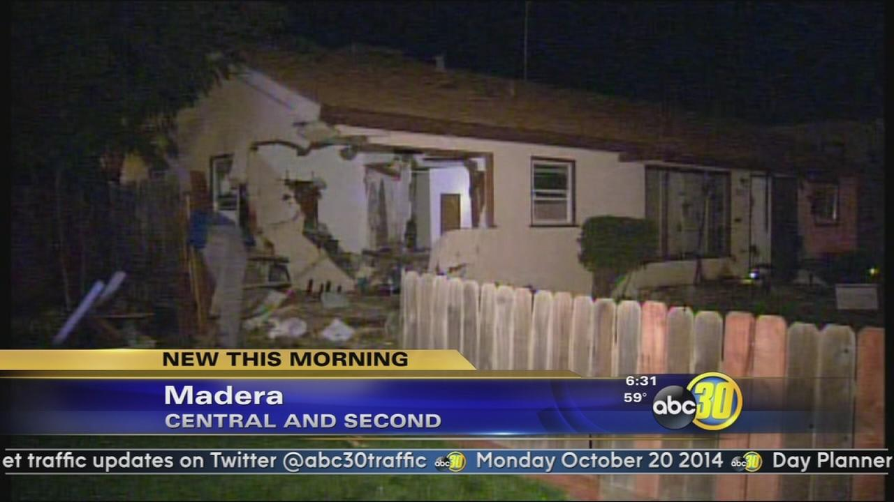 Suspected drunk driver crashes into Madera home