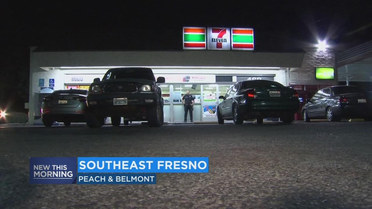 1 person arrested, police search for another after robbery at a 7-Eleven in Southeast Fresno