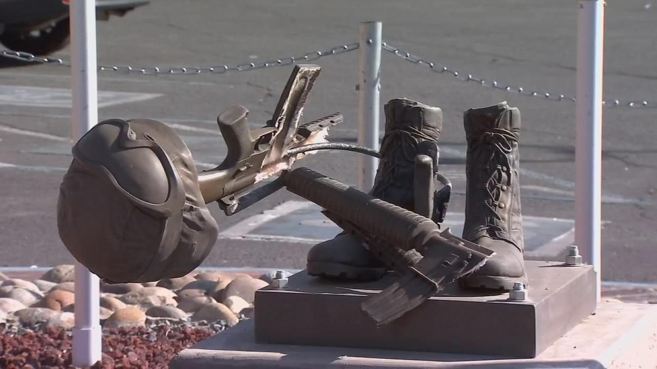 Monument honoring fallen veterans vandalized in Visalia
