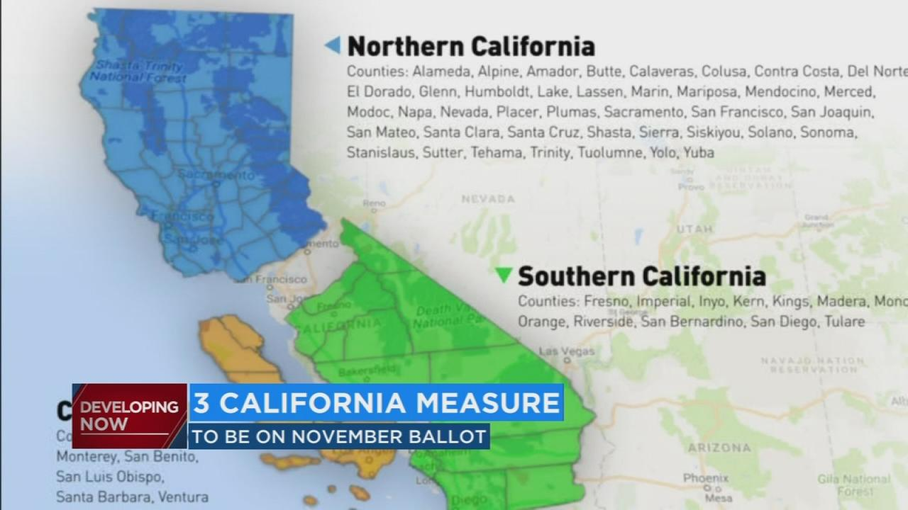 Controversial plan to split California into 3 states makes it on November ballot