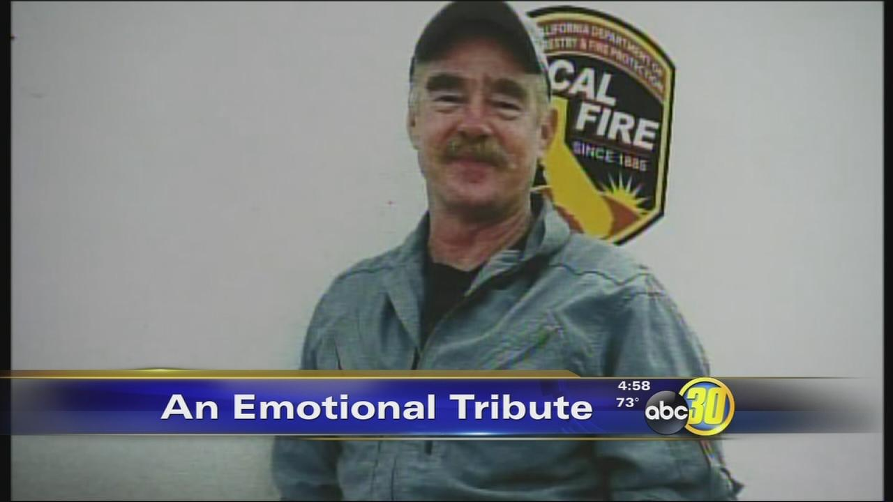 Firefighters honor fallen pilot killed in Yosemite wildfire