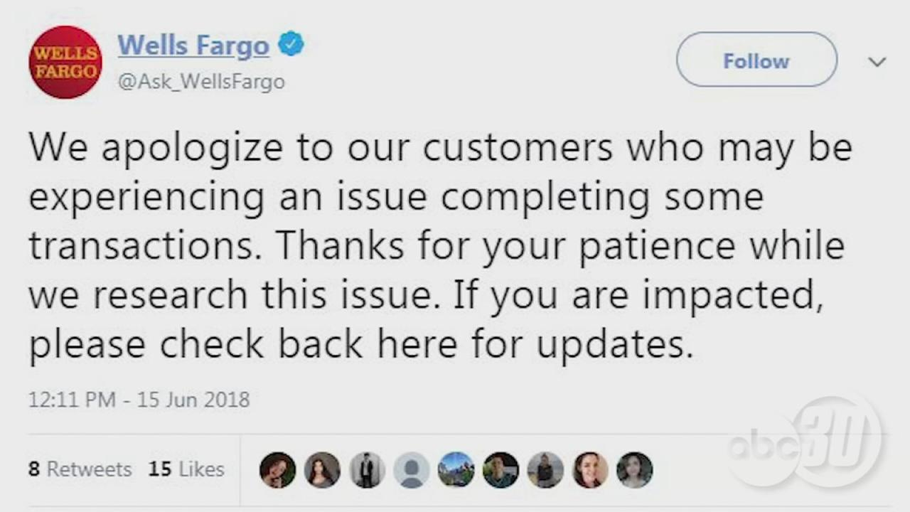 Wells Fargo says customers experiencing issues making purchases with debit cards