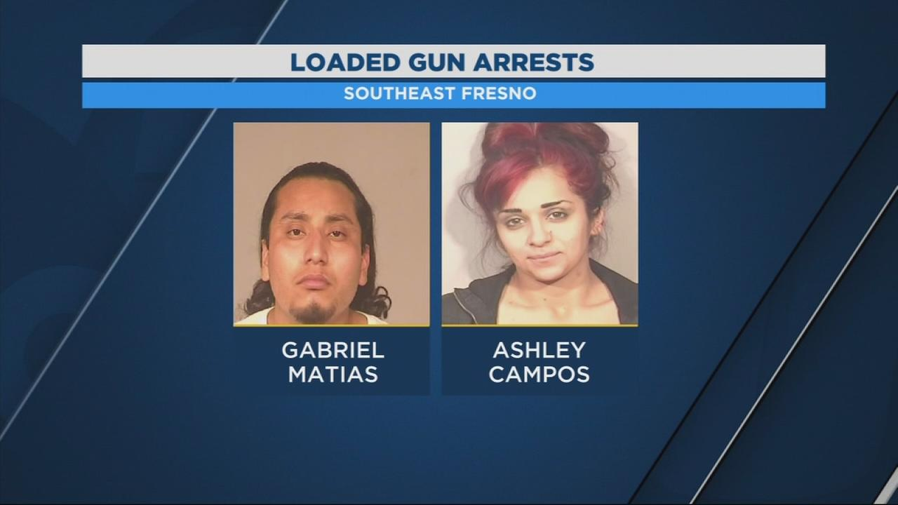 Fresno Police arrest two who had loaded guns, drugs in car