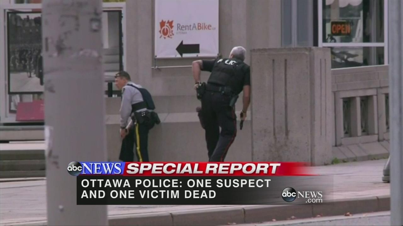 Soldier, gunman dead in Ottawa shootings