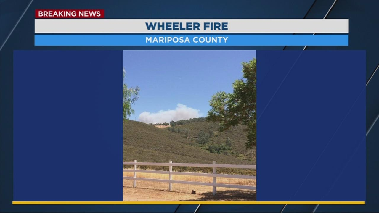 Wheeler Fire breaks out near Coulterville