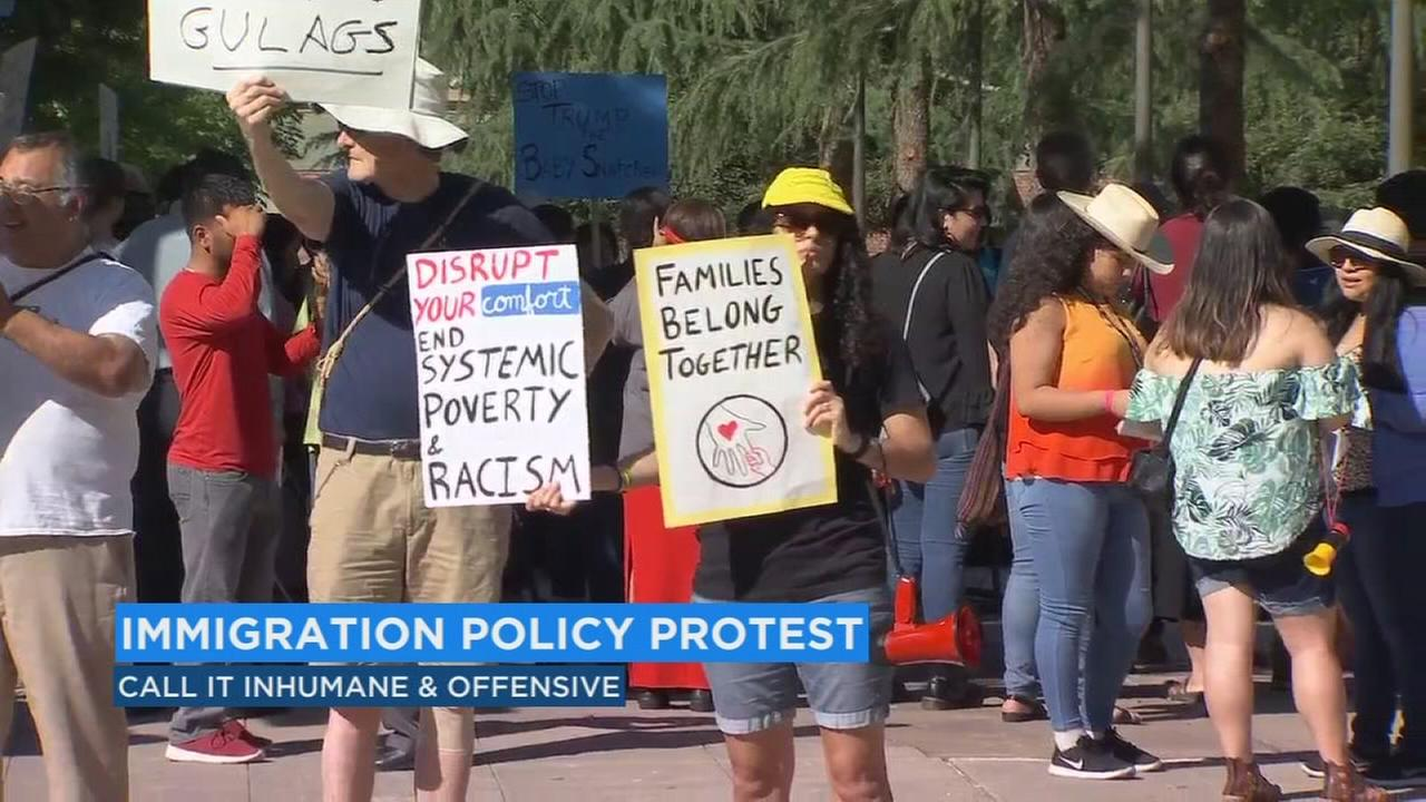 Immigration policy protest as Ivanka Trump visits Fresno