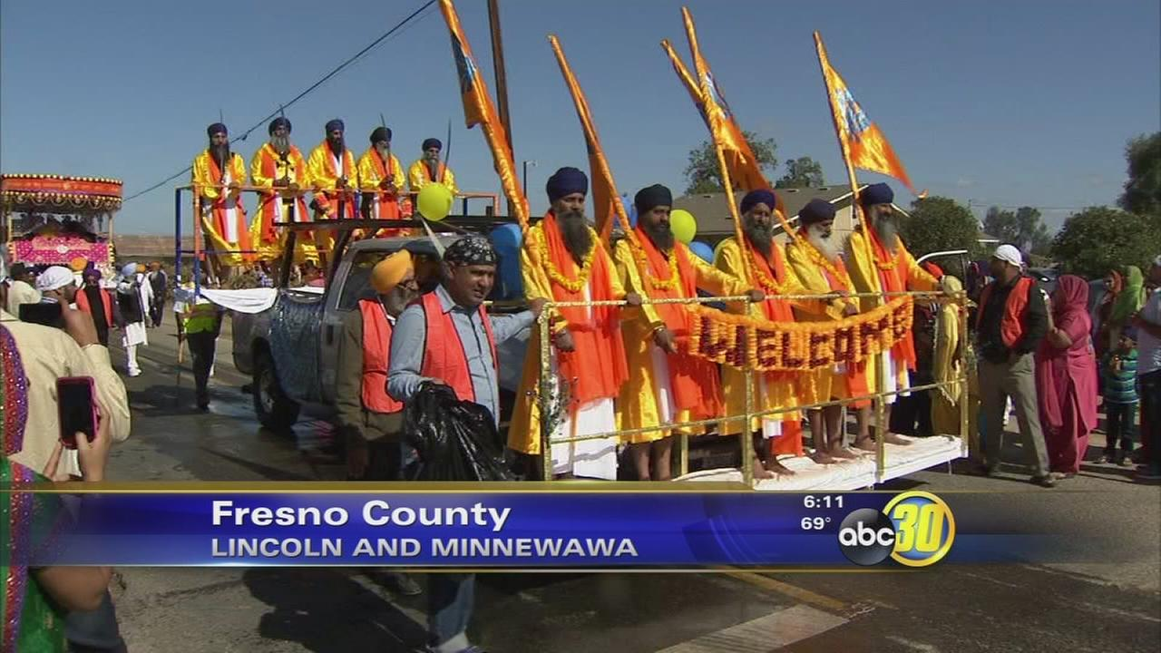 Fresno County parade marks Sikhism founders birthday