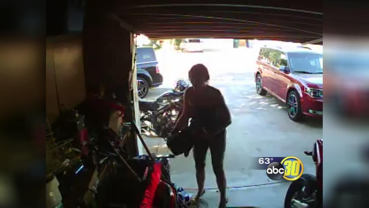 Suspect wanted after Clovis burglary caught on camera