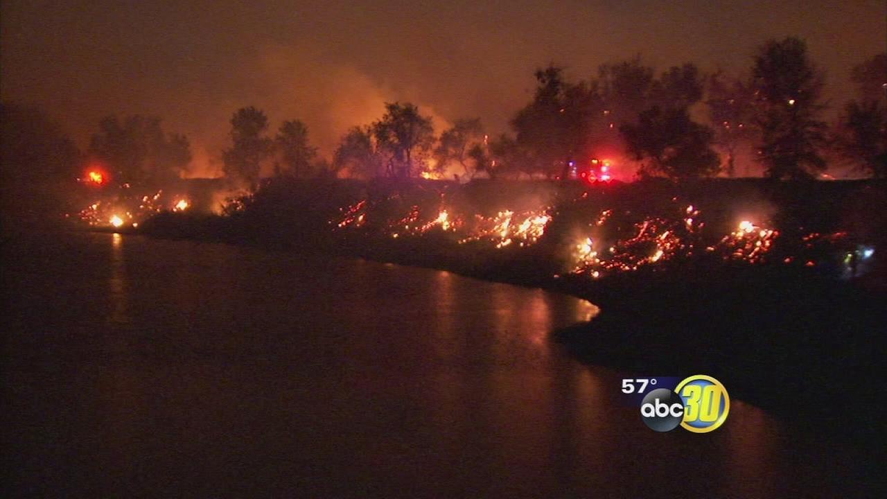 Valley sees fire, rain, wind on Halloween night