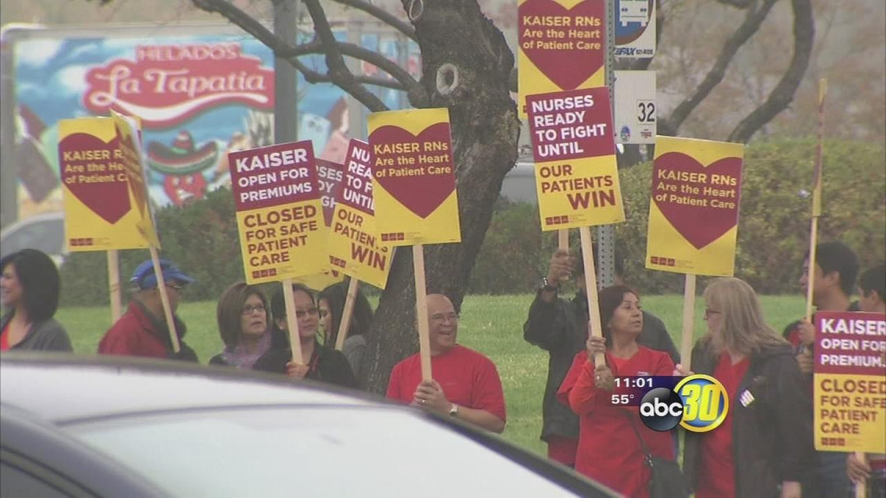 Kaiser Permanente nurses strike over contract issues