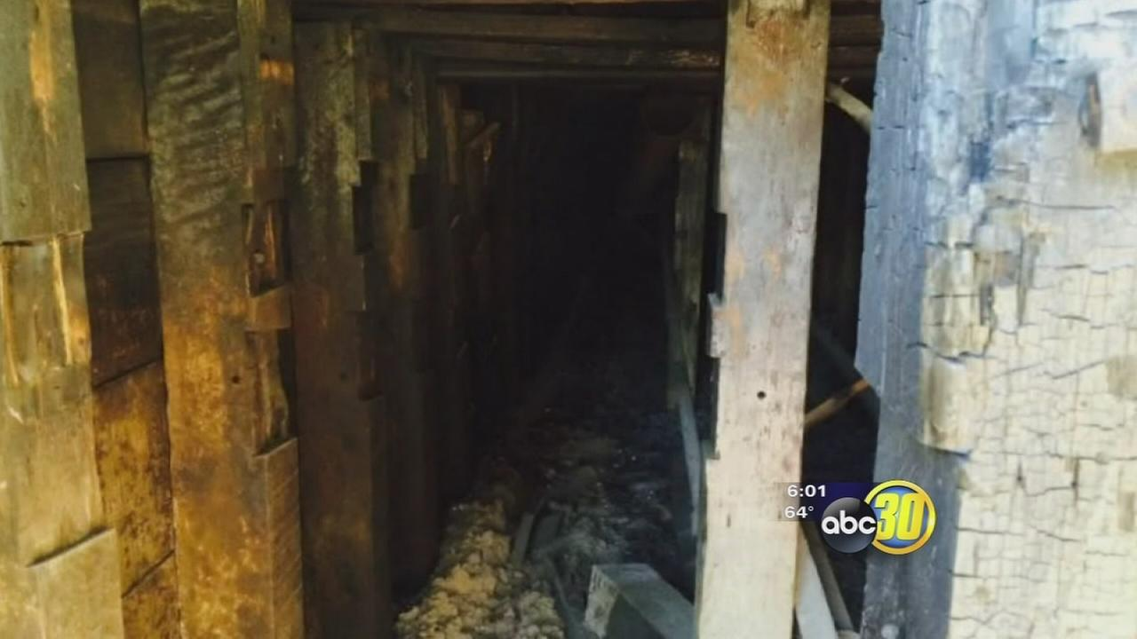 Demolition crews uncover Downtown Fresno tunnel