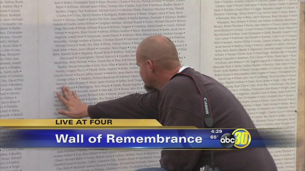 Wall of Remembrance on display at Clovis Hills Community Church