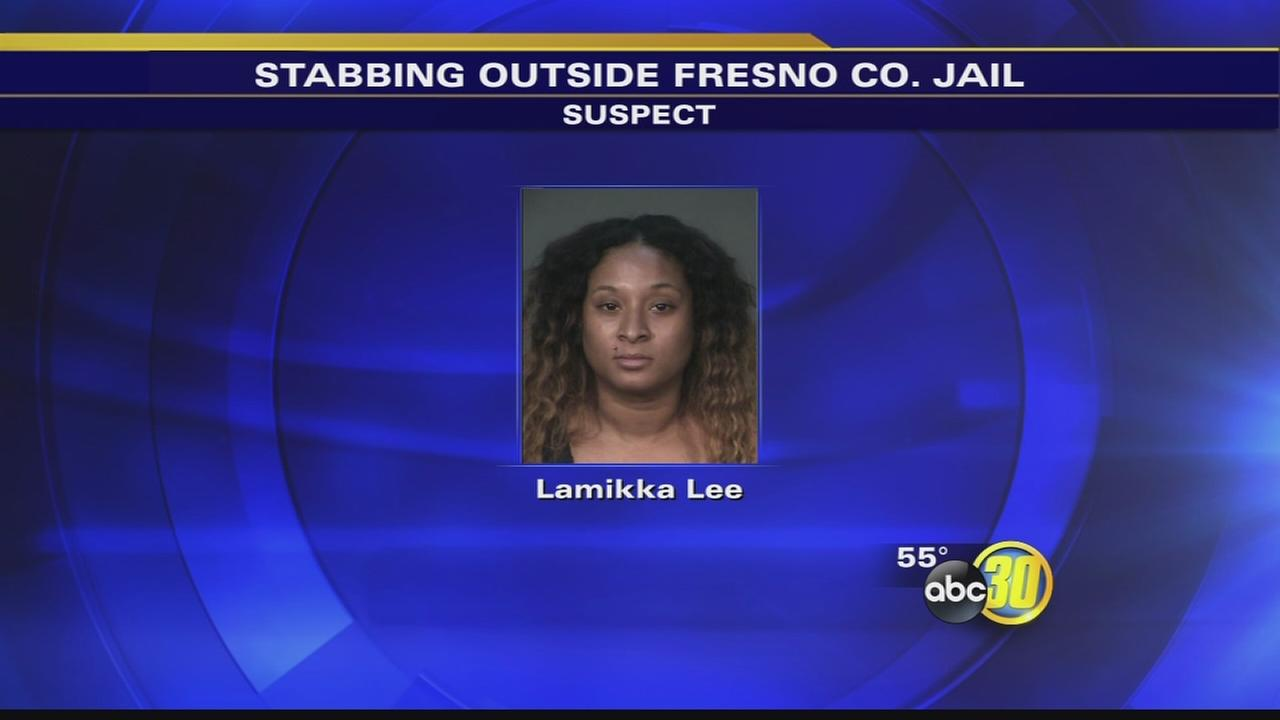 Woman arrested in stabbing outside Fresno County Jail