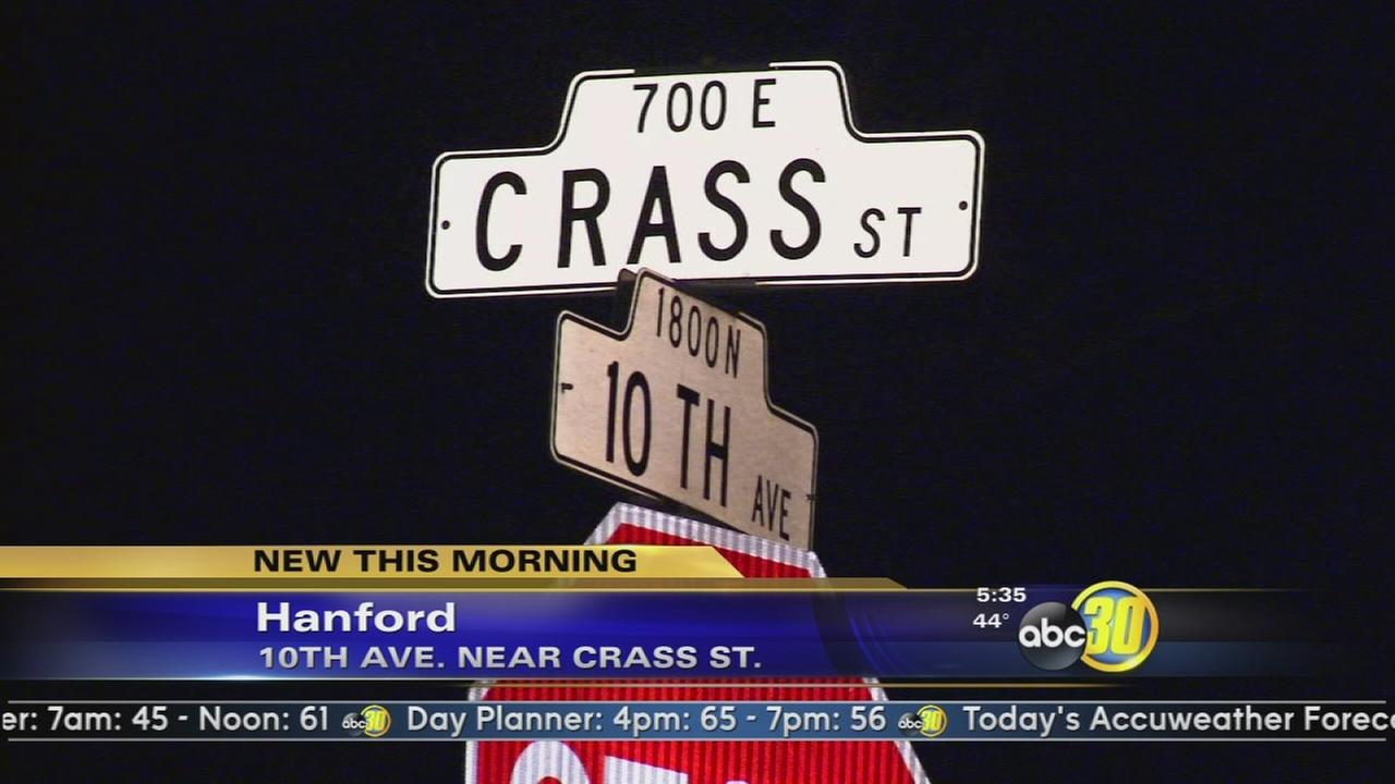 Police: Driver arrested after striking woman crossing street in Hanford