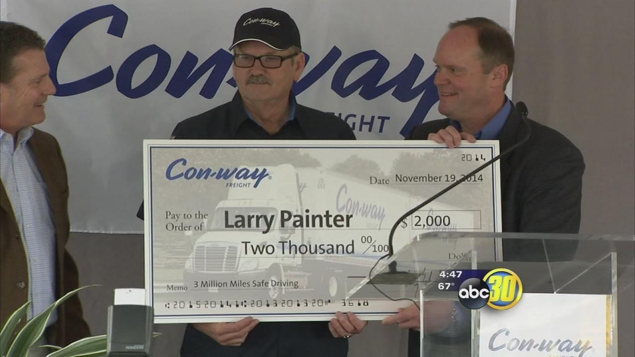 3 Con-way truck drivers recognized for safe driving