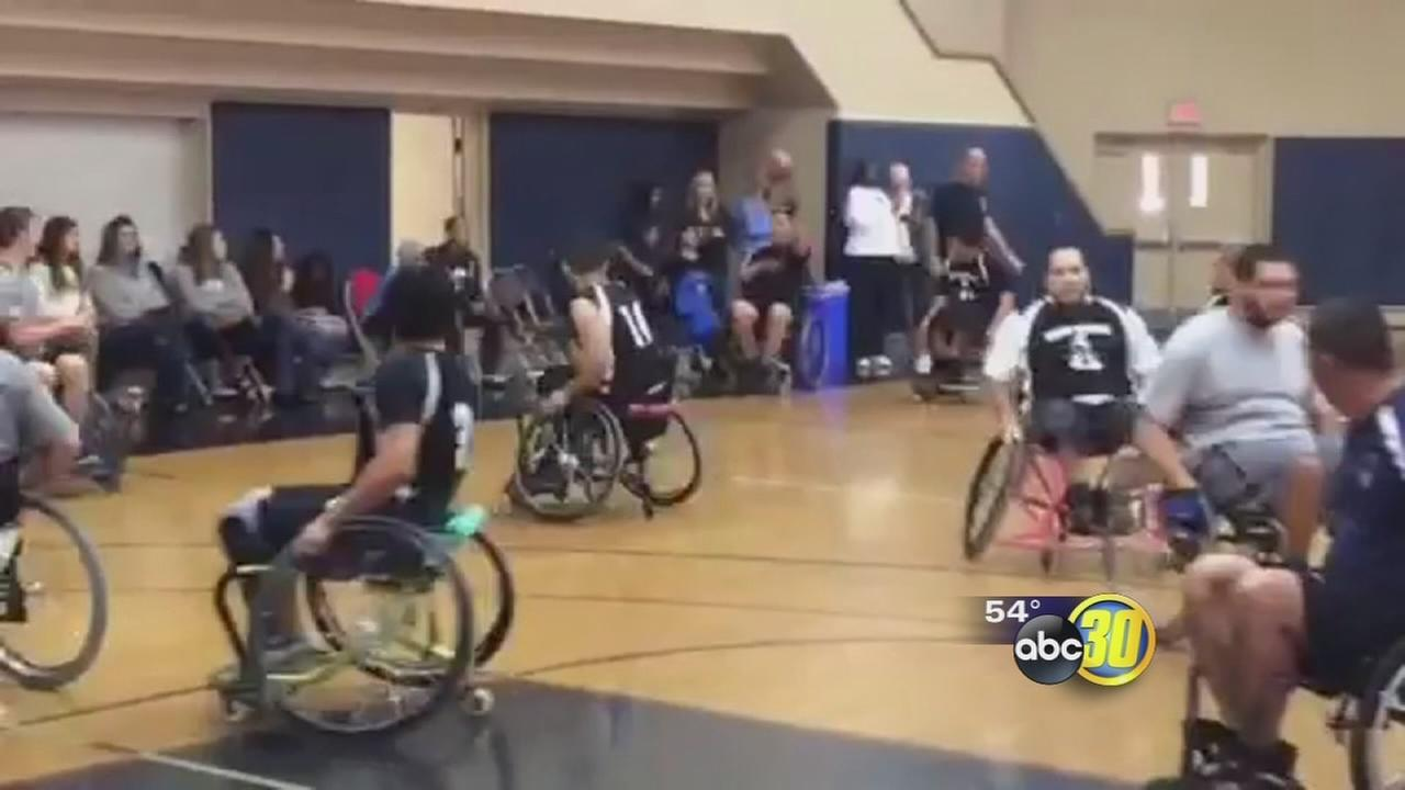 Wheelchair basketball game benefits Childrens Hospital