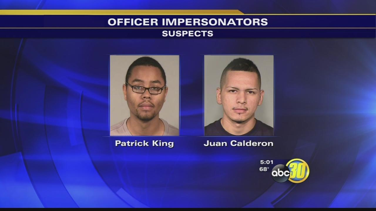 Fresno police: 2 cop impersonators arrested