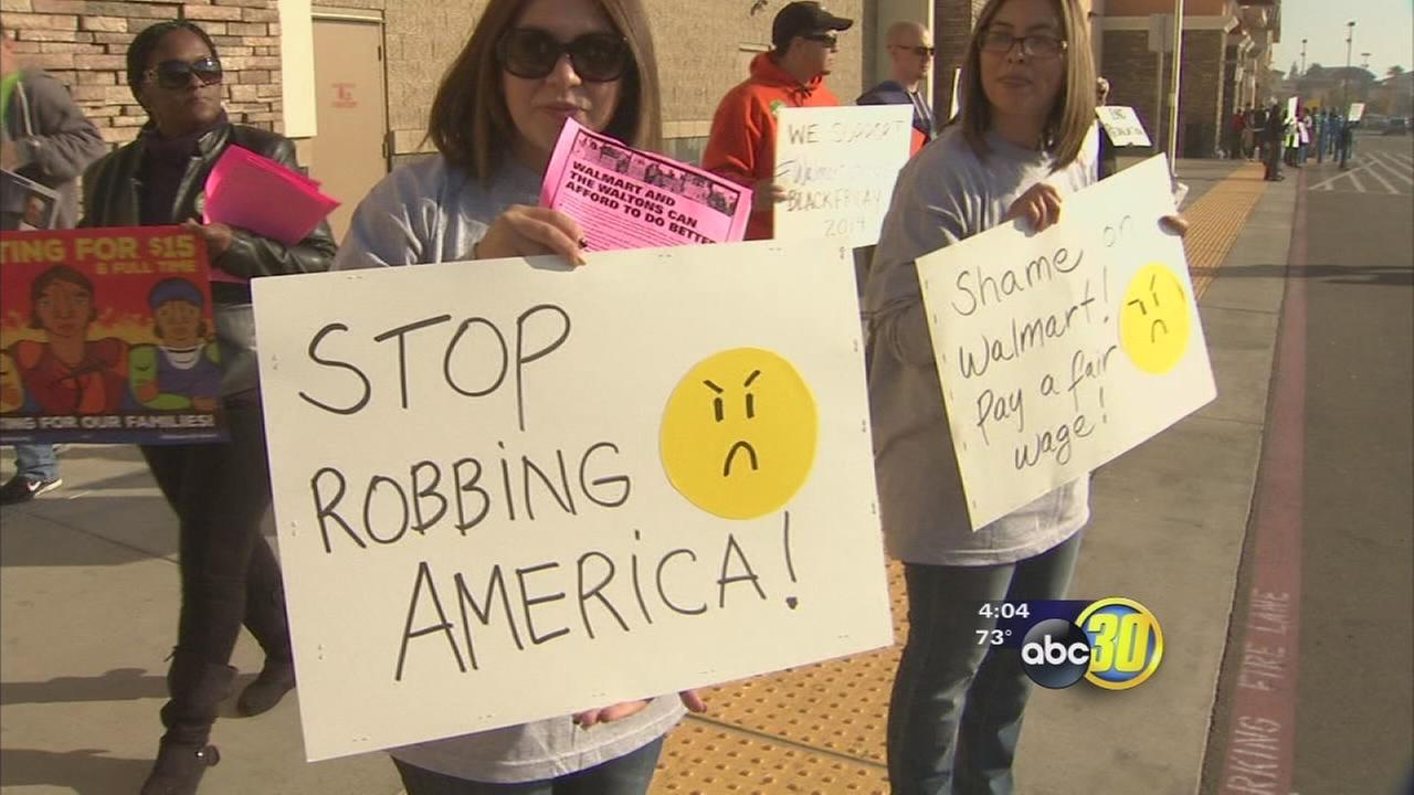 Clovis Walmart targeted by Black Friday protest