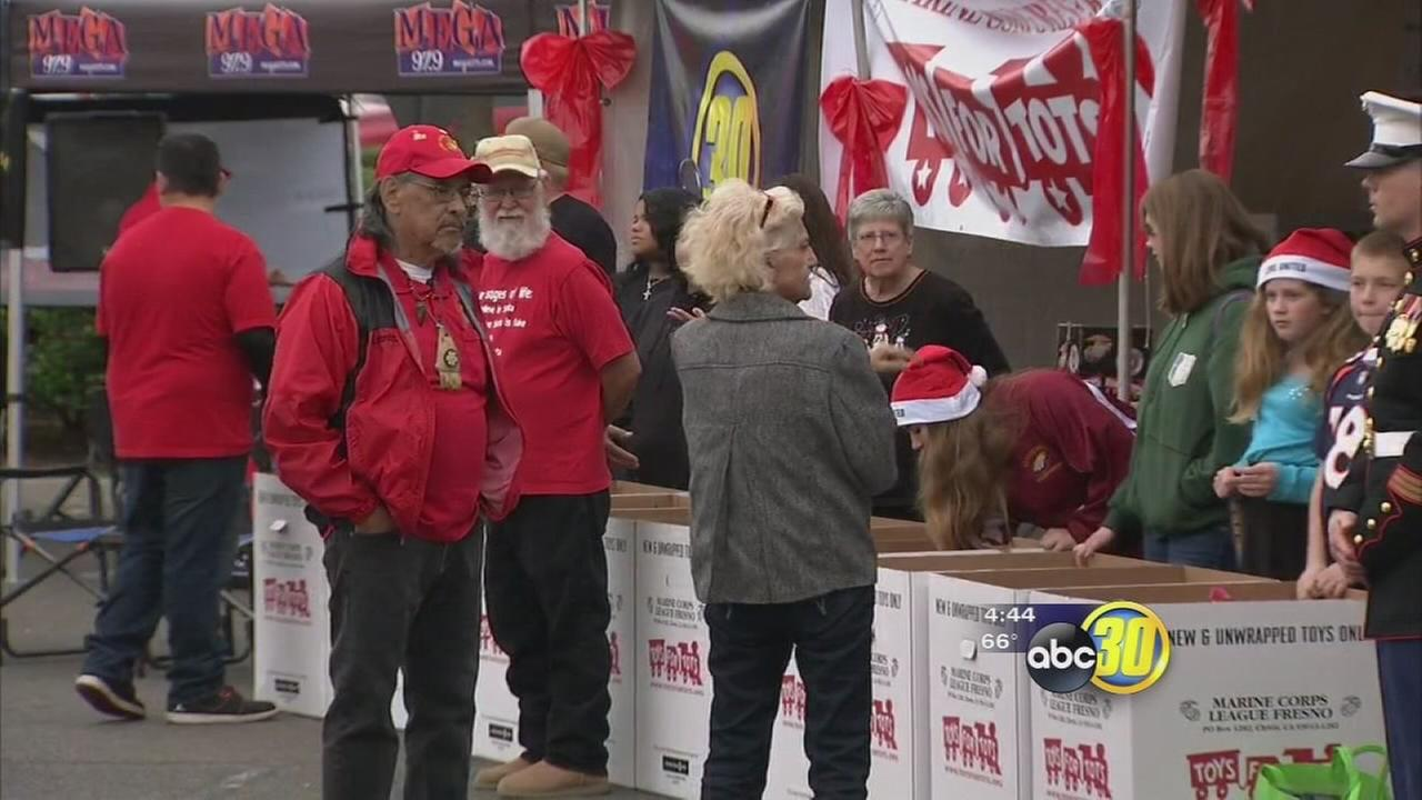 15K toys collected during Toys for Tots Marathon Weekend