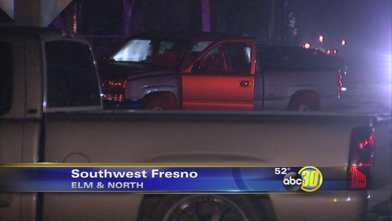 Driver arrested after car strikes person in Southwest Fresno